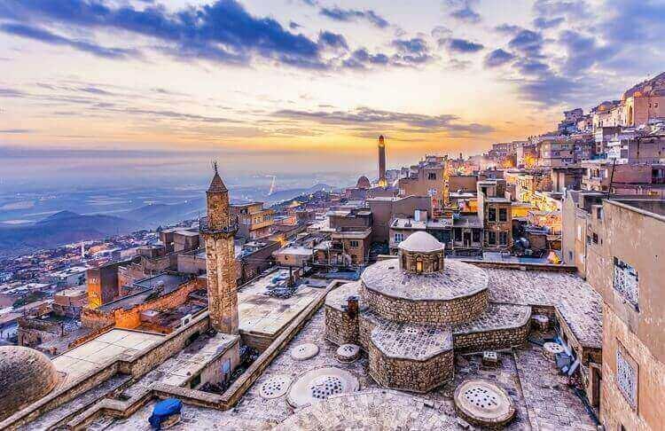 zonsondergang mardin turkije