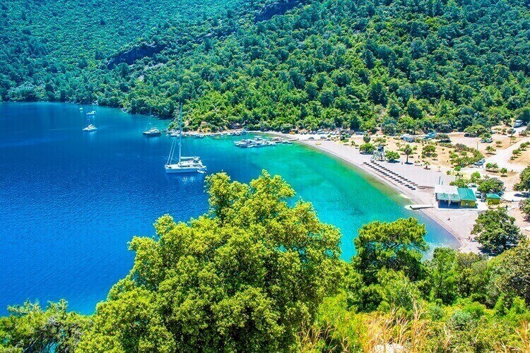 uitzicht strand dalaman turkije
