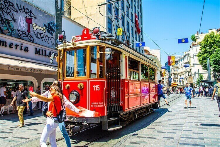 moderne trekpleiser istanbul turkije