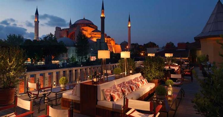 uitzicht aya sofia vanuit hotel istanbul turkije