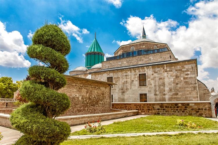 toeristiche trekpleister moskee konya turkije