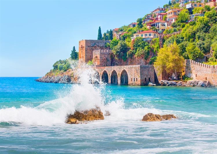 uitzicht opp zee antalya turkije